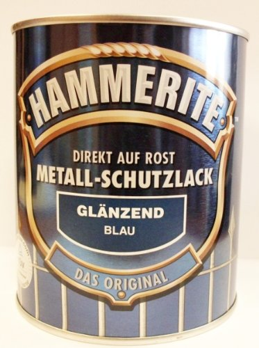 Hammerite Metall-Schutzlack, 750 ml, Blau Glänzend, Rostschutz und Lackierung in einem