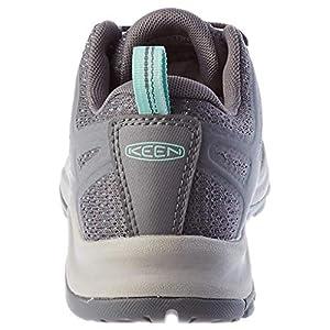 KEEN womens Terradora 2 Waterproof Low Height Hiking Shoe, Steel Grey/Ocean Wave, 8 US