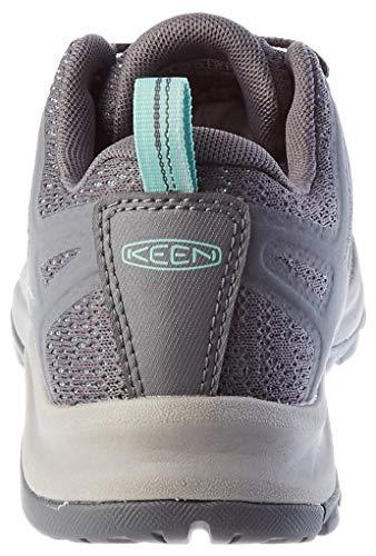 KEEN womens Terradora 2 Waterproof Low Height Hiking Shoe, Steel Grey/Ocean Wave, 7.5 US