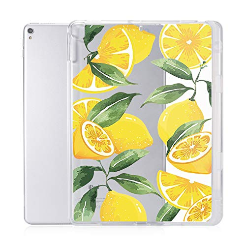 JOYLAND Lemon iPad Case Cover for iPad Pro 10.5-in/Air3 Clear Case Lemon Fruit Pattern Anti-Scratch Shockproof Slim fit TPU with Pencil Holder Case Cover for iPad Pro 10.5-in/Air3 (Lemon)