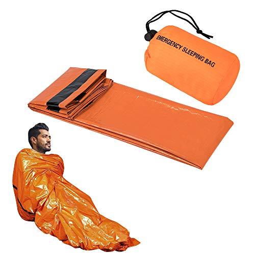 SKYSPER Notschlafsack,Rettungsdecke Survival Schlafsack PE Outdoor Rettungszelt für Erste Hilfe mit Wasserdicht leicht Hitzeabweisend Kälteschutz Ultraleicht Rettungszelt für Camping