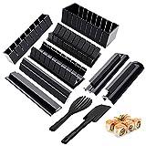 Gobesty Kit para hacer sushi, 10 piezas Set de herramientas de sushi, Kit de sushi para hacer en casa para Sushi DIY también como regalo (8 formas DIY)