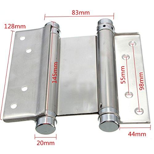 35kg Tragfähigkeit Scharnier mit Doppelfedern, 12,7 cm, Edelstahl, 2-Wege-Öffnung, Doppel-Scharnier (1 Paar)