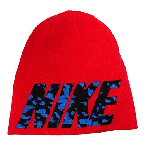 Nike Hombres de camuflaje Logo Beanie - 688768, Rojo
