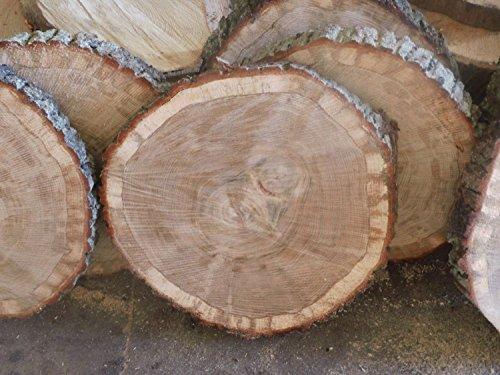KJR Holzmanufaktur Baumscheibe, Holzscheibe,ca. 40x3 cm, basteln, Holz,Eiche, Tischplatte
