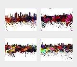 General ART Wanddekoration, Motiv Skyline der Städte und