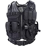 Yakeda Army Fans Tactical Vest Cs Field Outdoor Equipment Supplies Breathable Lightweight Tactical Vest Swat Tactical Vest Special Forces Combat Training Vest-1063