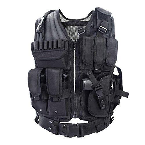 YAKEDA Tactical Vest Apparecchiatura Esterna Esercito Campo Fan Gilet tattico per Gli Uomini e jungleadventure Alpinismo SWAT Tactical Vest Forze Speciali addestramento al Combattimento Gilet -1063