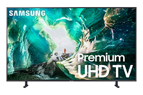 Samsung UN75RU8000FXZA Flat 75-Inch 4K 8 Series Ultra HD Smart TV with HDR and Alexa Compatibility (2019 Model), Gray