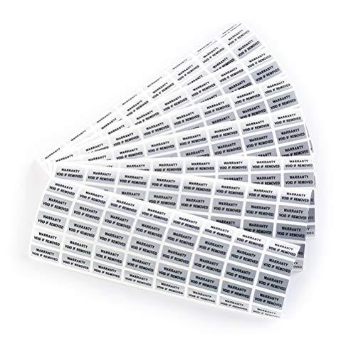 SZYND - Lote de 300 sellos de seguridad impresos Tamper Evident Warranty