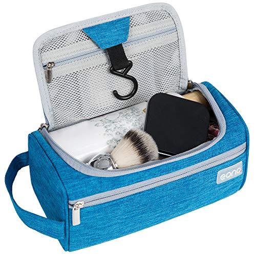 Eono by Amazon - Bolsa de Aseo Unisex, Neceser Maquillaje Grande con Gancho para Colgar, Bolso cosmético Impermeable Toiletry Bag, Wash Bag, Bolsa de Viaje y Bolsa de Lavado para Colgar, Azul