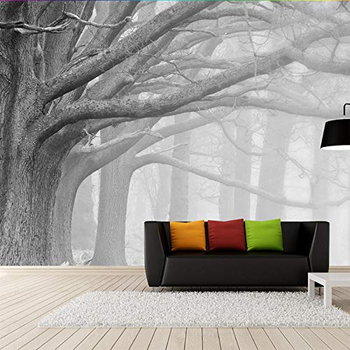 Nomte Custom 3D fotobehang wit en zwart bos bos bos bos kunst muur café restaurant slaapkamer decoratie huis muur waterdicht 3D fris 250x175cm