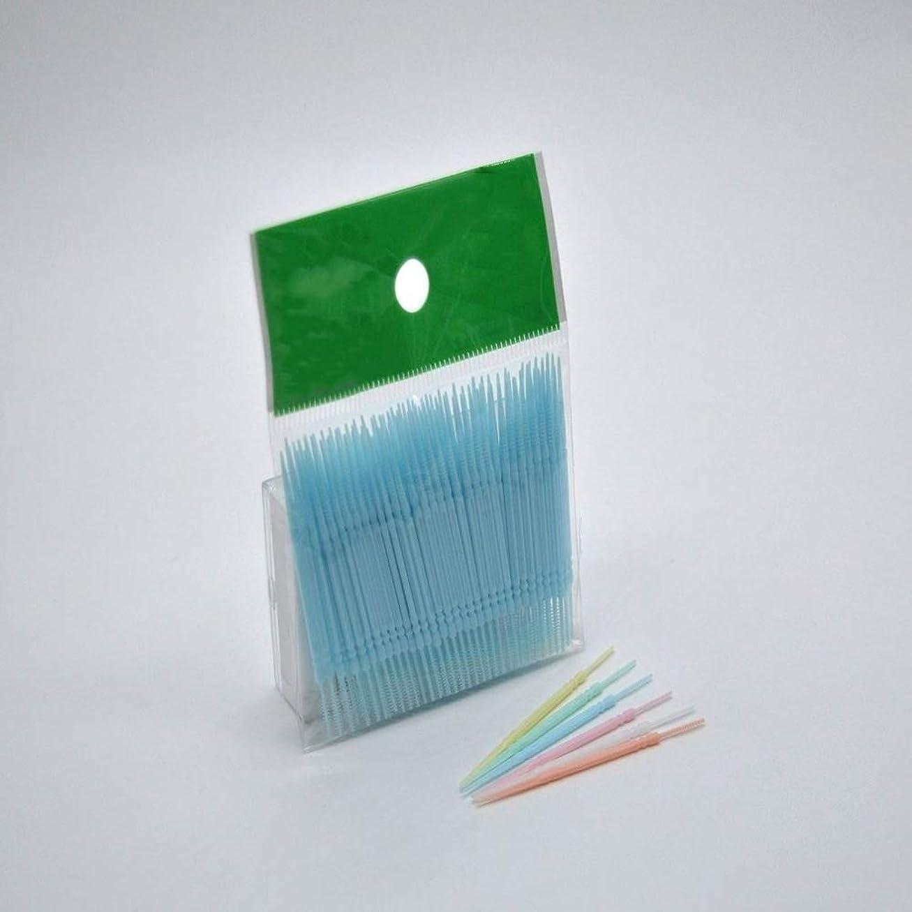 愛情交渉する過度の使い捨てダブルヘッドプラスチック歯フロス衛生歯科フロス歯間つまようじ健康用歯磨き,Blue,400pcs