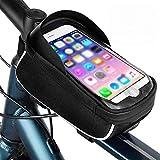 Youool Bolsa Bicicleta Manillar, Bolsa para Ventana con Pantalla táctil Resistente al Agua Adecuada para teléfonos Inteligentes de 3.5-6.5 Pulgadas,Accesorios Bicicletas montaña