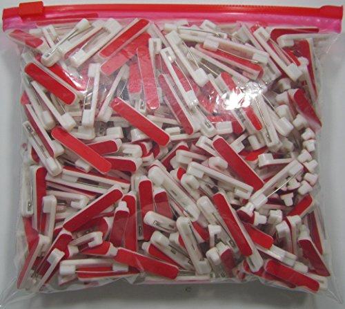1000 Adhesive Safety Pin Backs (Buy 2 get 200 Free) (Buy 3 get 500 Free) Adhesive Bar Pin - Safety Bar Pins - White Safety pin bar w/Adhesive - Safety pin Back for Name Badge - Adhesive pinback