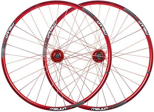Ancnan Rueda de Bicicleta 26 Pulgadas Bicicleta Delantera Rueda Trasera Juego de Ruedas Llanta de aleación de Doble Pared Freno de Disco Liberación rápida 7 8 9 10 Velocidad 32H