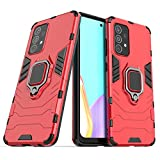 Max Power Digital Funda para móvil Samsung Galaxy A52 4G/5G Carcasa Magnética con Anillo Imán Híbrida Antigolpes Resistente Rígida Dura [Tecnología de Absorción de Golpes] (Samsung Galaxy A52, Rojo)