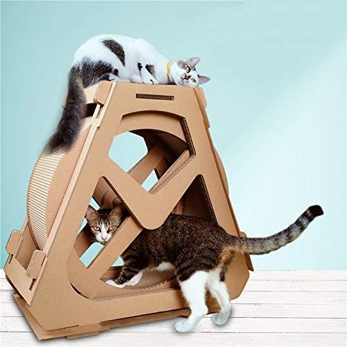 Wheel huisdier loopband reuzenrad meubilair kat krabplank aangrijpend kruipen plank stuurwielrotatie kat loopband, rollen oefening, goed karton nest,1