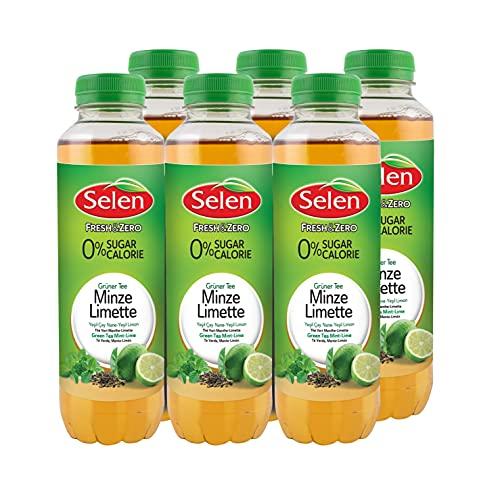 SELEN Grüner Tee Minze Limette, 6er Pack (6 x 500ml)