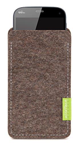 WildTech Sleeve für Wiko Highway Pure Hülle Tasche - 17 Farben (Made in Germany) - Natur-Meliert