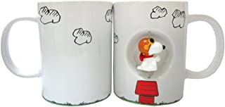 Westland Giftware 4-Inch Ceramic Spinner Mug, 12-Ounce, Peanuts Flying Ace