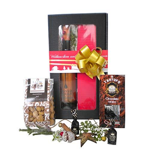 """Das Geschenkset """"Weihnachtliche Auswahl für Genießer"""" richtet sich an Feinschmecker mit einem erlesenen Geschmack und ist als Geschenk zu Weihnachten eine hervorragende Wahl."""