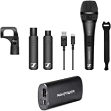 Sennheiser XSW-D VOCAL SET XS1 Dynamic Microphone with RAVPower Luster 6700mAh Charger & Fastener Straps 10-Pack Bundle