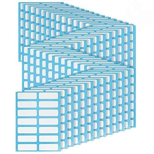 672 Pezzi Etichette Adesive per Cartelle di File Adesivi Etichette Adesive di Nomi Etichette Adesivi Scrivibile di Bianco Rettangolare di Vetro e Bottiglia 3.8 X 1.3cm