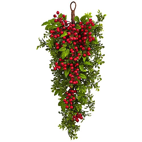 Nearly Natural 4562 26 Berry Boxwood Teardrop