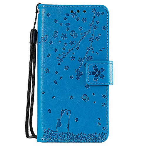 Review Lomogo Leather Wallet Case for Huawei Honor 10 with Stand Feature Card Holder Magnetic Closur...