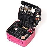 ROWNYEON Bolsa de Maquillaje Extraíble en el Interior Neceseres de Viaje Maquilladora bolsa de Maquillaje, Rosa