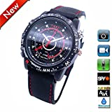 Flylinktech Black 8GB Mini Spy Hidden Camera Watch with Built-in Rechargeable Li-ion Battery