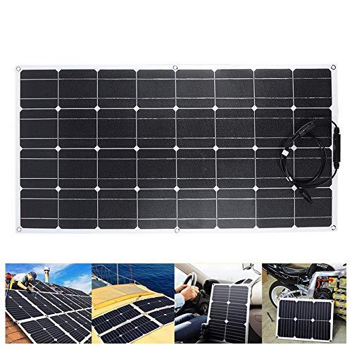 Qinlorgo 100 Watt 18 Volt Einkristall-Solarpanel, Etfe Chip Solarpanel-Batterieladegerät mit Frontkabel für Batterieladeboote, Wohnwagen, Wohnmobile und andere netzunabhängige Anwendungen