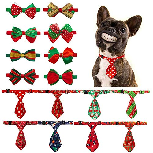 Dog Bow Tie Royal Blue Velvet Dog Harness Bowtie Easily Attachable and Adjustable Pet Bow Ties
