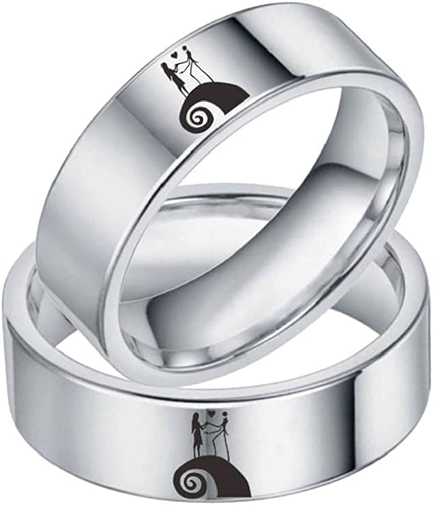 The trading nightmare before Christmas Halloween Rhinestone stainless steel ring Rong gave his lover