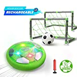 DEERC Kids Game Toys Hover Soccer Ball Set Rechargeable Air Soccer with 2 Goals, Ball Toy with LED...