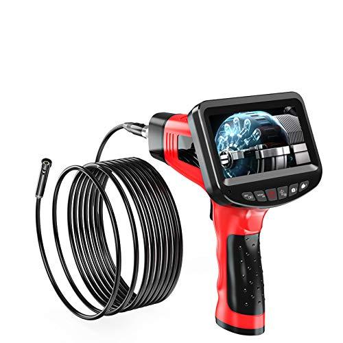 Cámara de inspección de doble lente, endoscopio industrial de plomería automotriz con pantalla de 4.3 pulgadas 1080P HD, alcance de cámara de video con serpiente con cámara IP67 a prueba de agua, 6