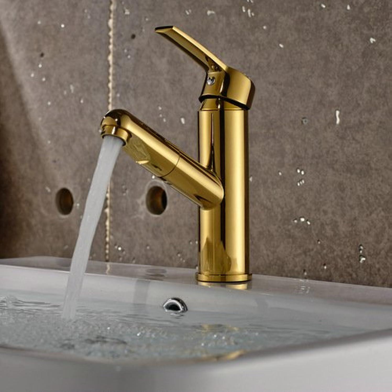 Ddlli Badarmaturen für Küchenspülen Wasserhahn Duscharmatur F6Lavatory Armaturen Hot and Cold Wasserhahn Teleskop Waschbecken