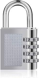 Drenky Combinatie Hangslot 4-Cijferig, 1 Stuk Zilver Zink Legering Anti-Roest Cijfersloten Met Individueel Instelbare Cijf...