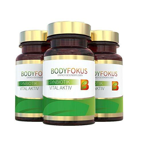 BodyFokus SynBiotik Vital Aktiv - Starker Partner für Ihren Darm - 3 Dosen