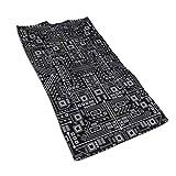 Evil Robot Circuit Board (negro y gris) Toallas de microfibra de 27.5 x 17.5...