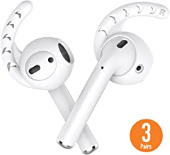 AHASTYLE 3 Pairs AirPods Ear Hooks Silicone Accessories Compatible with Apple AirPods 1 and 2 or EarPods Headphones(Milk White)