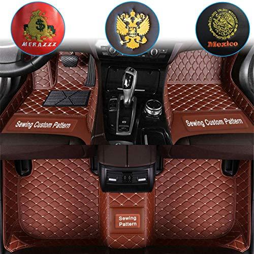 Ruberpig Car Custom Floor Mats for Mercedes Benz W169 A45 AMG W245 W246 W203 W204 W205 W211 W212 W213 W207 W126 W140 W463 CL CLA Luxury Leather Waterproof Non-Slip Full Coverage Floor Liner Full Set