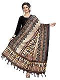 Sidhidata Women's Printed Cotton Silk Dupatta (dupatta women_Multicolored_Free Size)