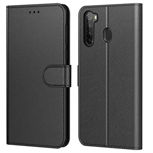 AURSTOR Etui Coque pour Xiaomi Redmi Note 8, pour Redmi Note 8 2021,Protection Pochette Housse en Cuir PU Portefeuille Livre,[Emplacements Cartes],pour (Redmi Note 8 (6,3 Pouces), Noir)