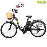 NAKTO 26' Adult Electric Bicycle for Women with High-Speed Brushless...
