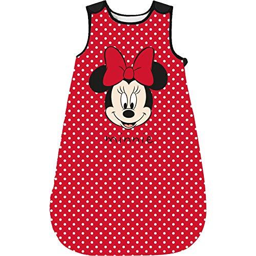 Minnie Mouse - Baby Schlafsack rot wattiert, ohne Ärmel, Mädchen (90)