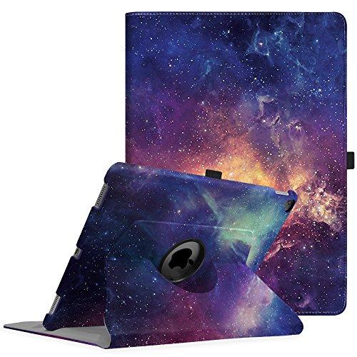 Fintie Funda Giratoria para iPad Pro 12.9 - Rotación de 360 Grados Carcasa con Función de Soporte y Auto-Reposo/Activación para iPad Pro 12,9 Pulgadas (Versión 2017/2015), Galaxia