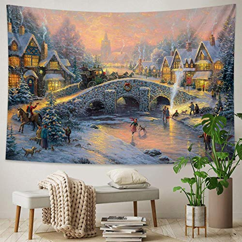 Beautiful home Art Deco Wall Tapestry Christmas tree Bohemian decoration Hippie psychedelic Scene Travel mattress