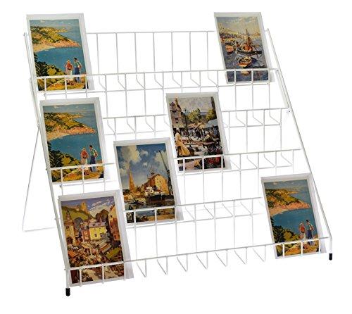 stand-store Grußkarten Ausstellungsstand, zusammenklappbar, weiß